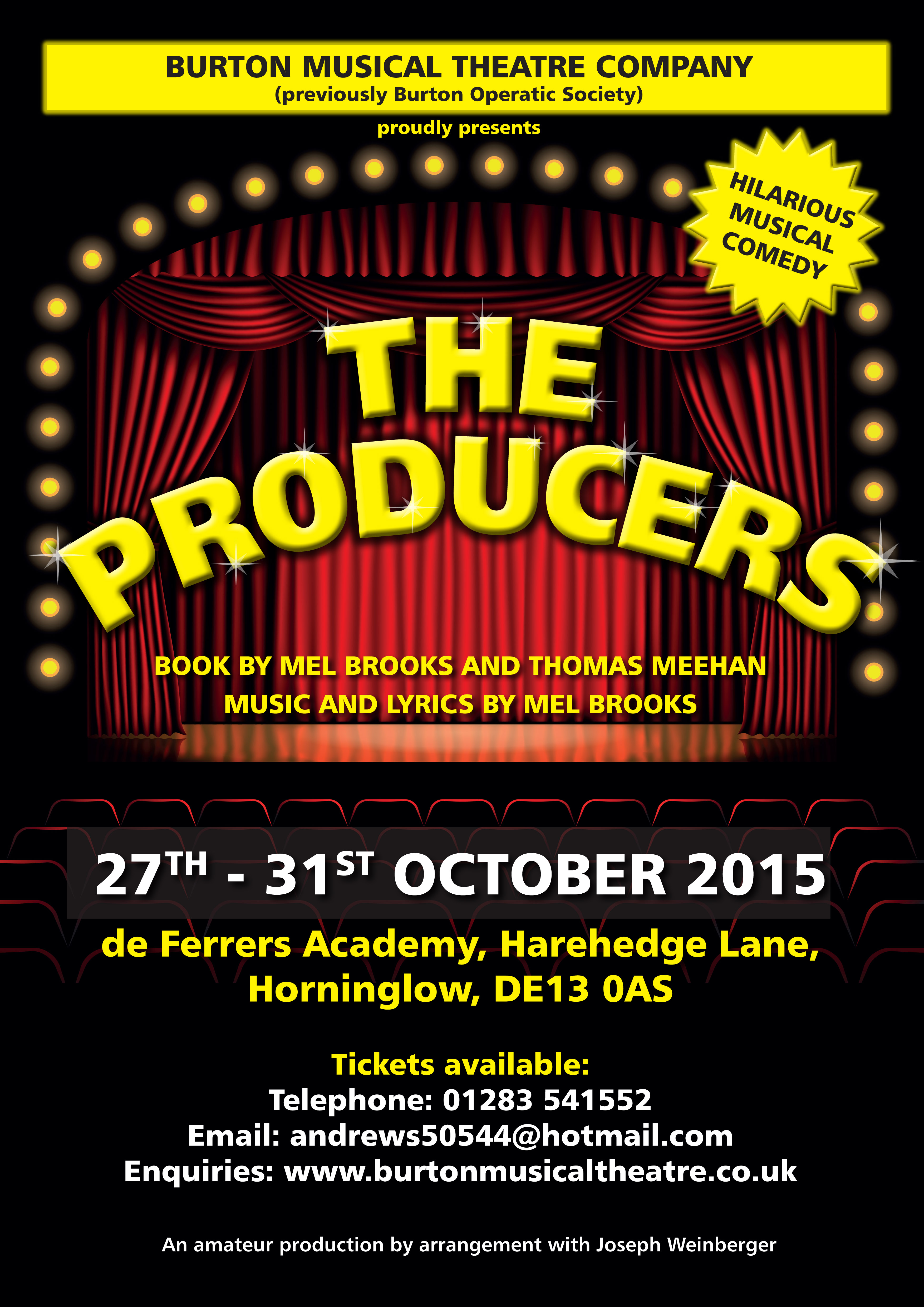 Click to view The Producers programme
