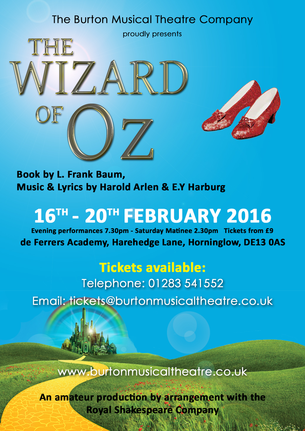 Click to view the Wizard of Oz Programme