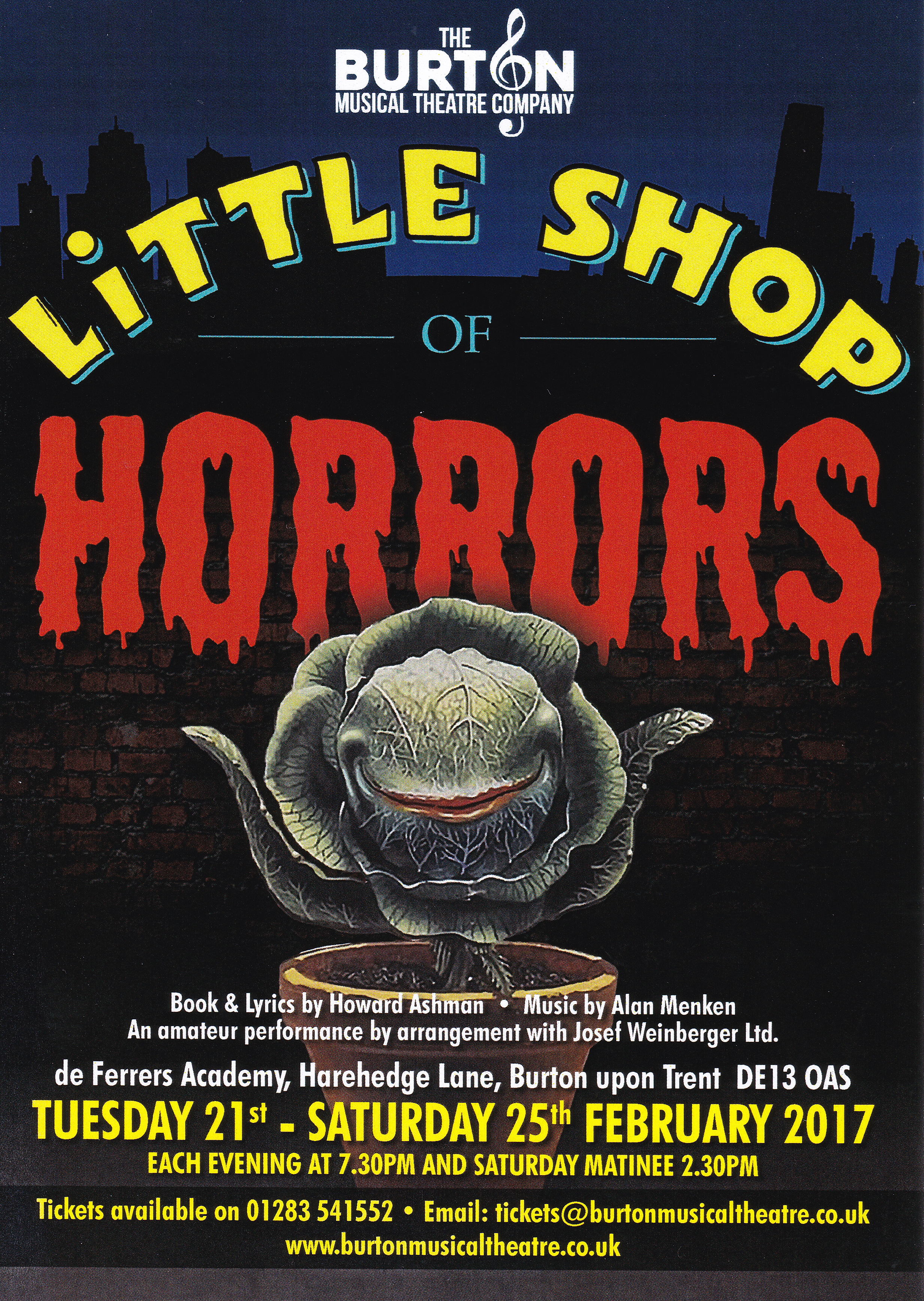 Click to view the Little Shop of Horrors Programme