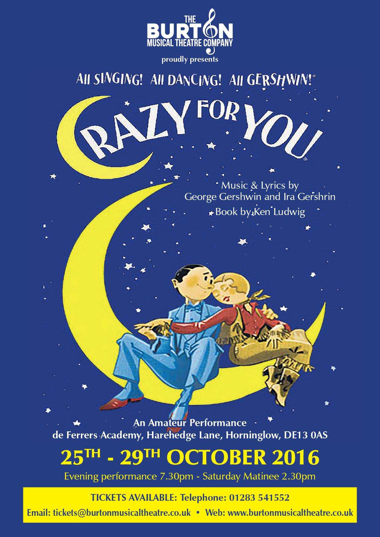 Click to view the Crazy For You Programme